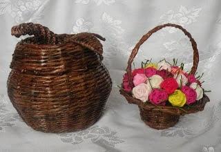 Плетение из газет. Подробный фото мастер-класс по плетению корзинки ЯБЛОЧКА (2) (320x220, 54Kb)