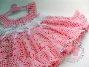 Вязание платья для новорожденных крючком