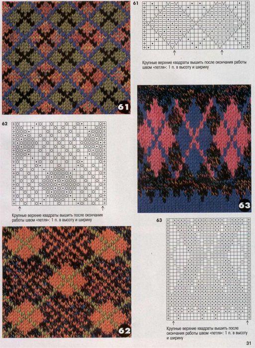 Цветной рисунок для вязания спицами 31