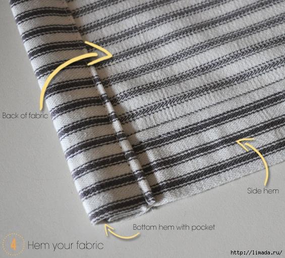 DIY Ticking No Sew Rolled Window Valance (565x511, 261Kb)