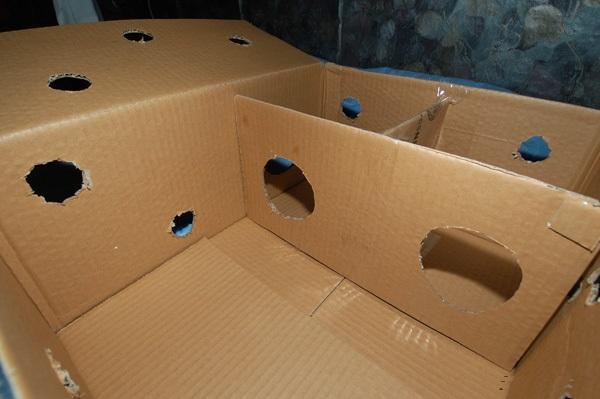 Тренажёр кошачий, или Что можно сделать из обычной коробки. нашла в интернете если ребенок к примеру сам сделает и...