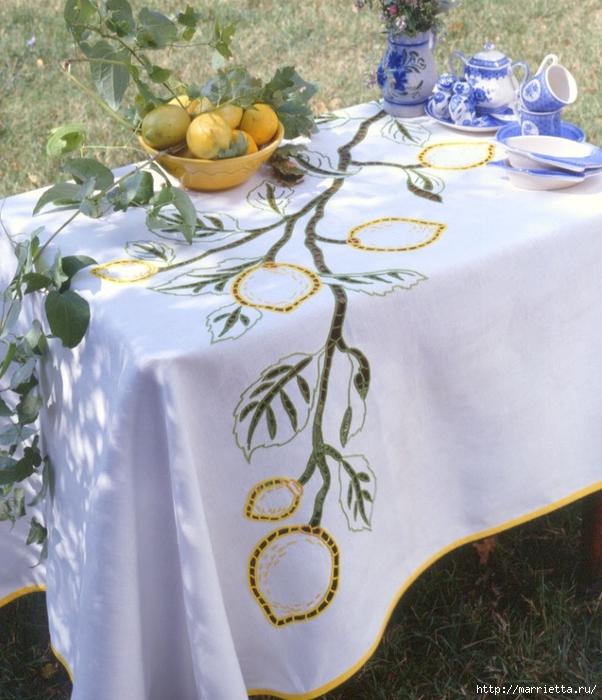 Вышивка для скатерти и полотенца. Схемы (9) (602x700, 307Kb)