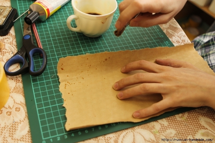 Как сделать бумагу на кофе 148