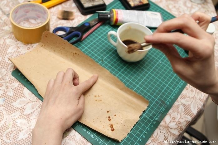Как сделать винтажный свиток из бумаги (14) (700x466, 248Kb)