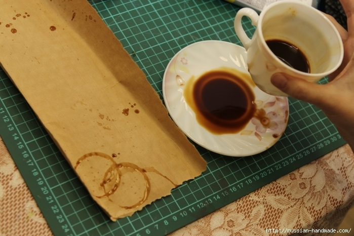 Как сделать бумагу на кофе 102