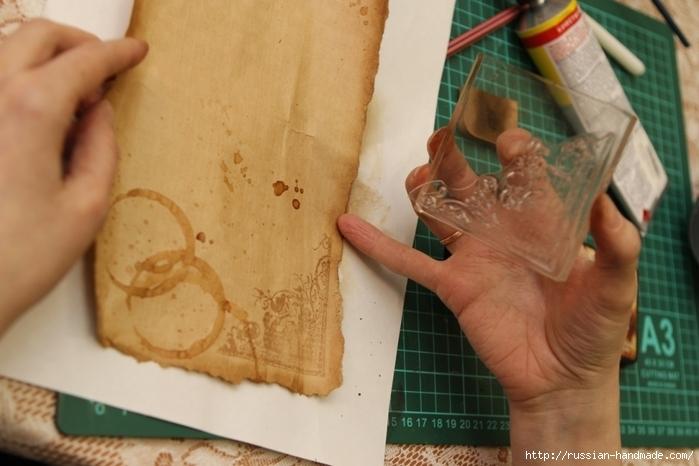 Как сделать винтажный свиток из бумаги (18) (700x466, 211Kb)