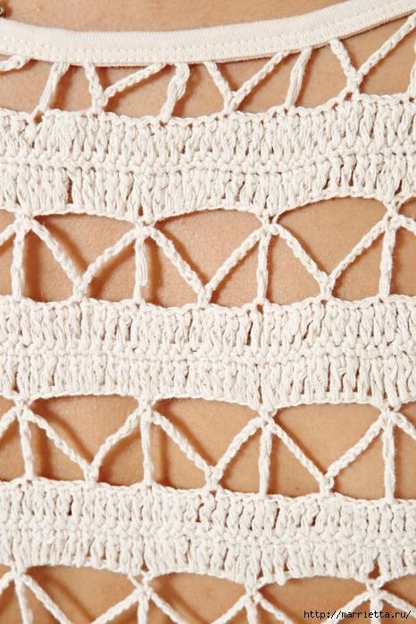 Вязание крючком. Летние жилеты, туники (12) (466x700, 304Kb)
