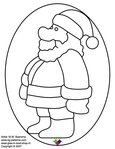 ������ Glass pattern 053 Christmas man (540x700, 122Kb)