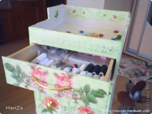 Как сделать из картона комодик для швейных принадлежностей (3) (520x390, 93Kb)