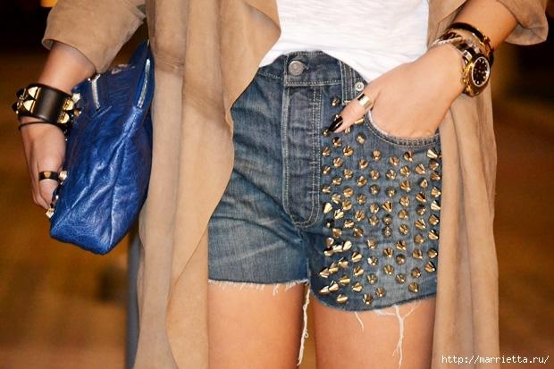 шорты из джинсов, переделка и украшение (51) (620x413, 194Kb)