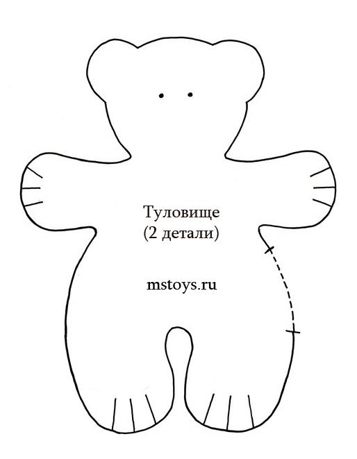 Выкройка мишки из ткани своими руками