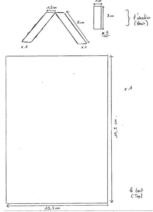 Скрапбукинг. Еще один домик на колесах) Шаблон (10) (504x700, 49Kb)