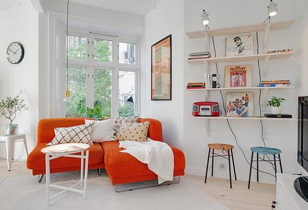 красивый интерьер для маленькой квартиры фото 1 (600x409, 254Kb)
