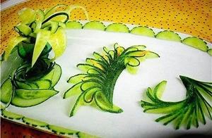 Овощной карвинг. Украшение салатов (14) (300x196, 82Kb)