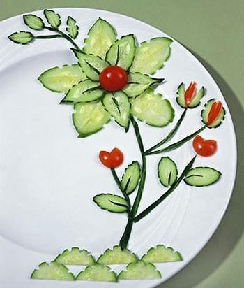 Овощной карвинг. Украшение салатов (23) (350x412, 104Kb)