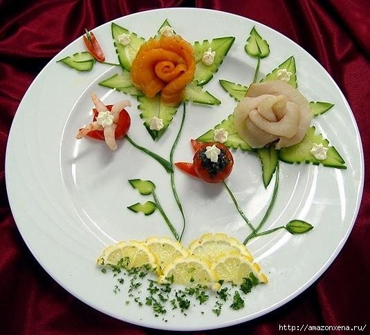 Овощной карвинг. Украшение салатов (27) (535x485, 207Kb)