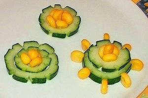 Овощной карвинг. Украшение салатов (33) (300x199, 49Kb)