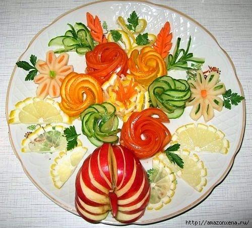 Овощной карвинг. Украшение салатов (43) (500x453, 165Kb)