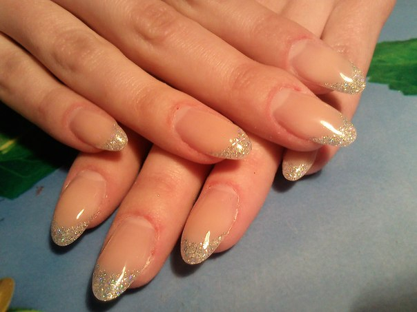 Нарощенные ногти с на короткие ногти