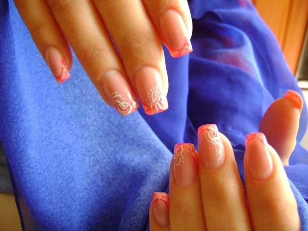 Ногти наращивание летний