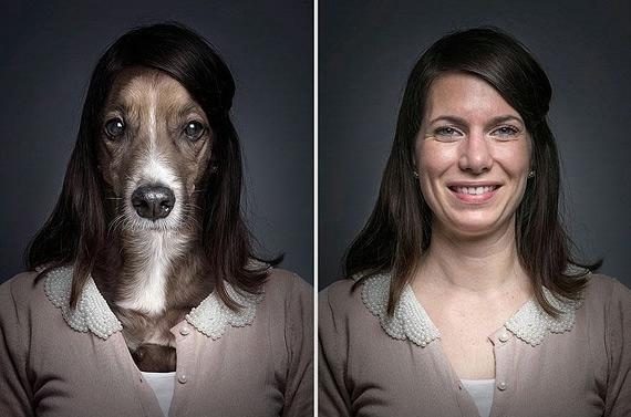 портреты хозяев со своими собаками фото (570x377, 125Kb)
