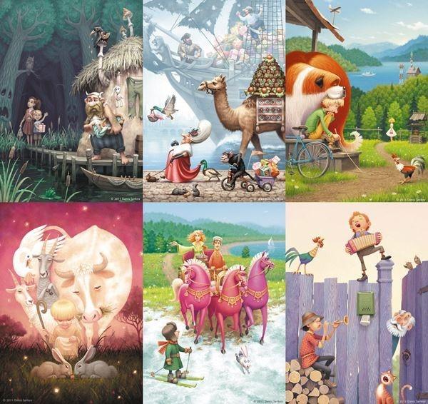 Денис Серков. Иллюстрации для детских книг
