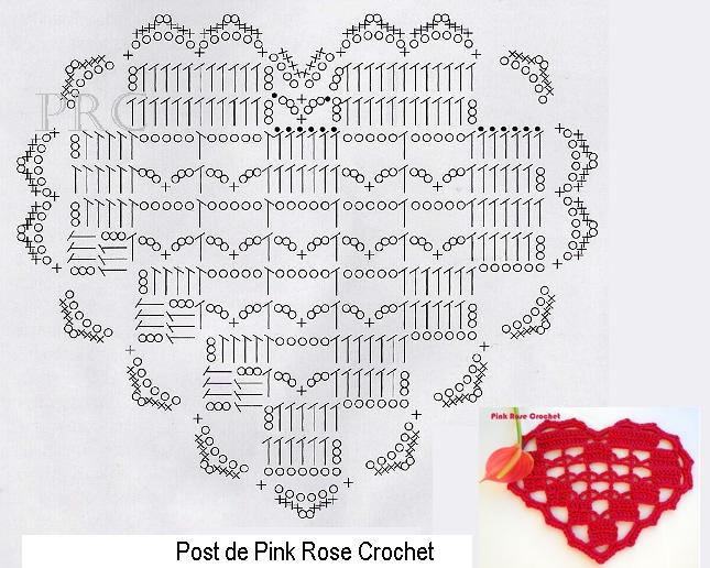 сердечное вязание крючком. сафетки крючком схемы (2) (645x516, 352Kb)