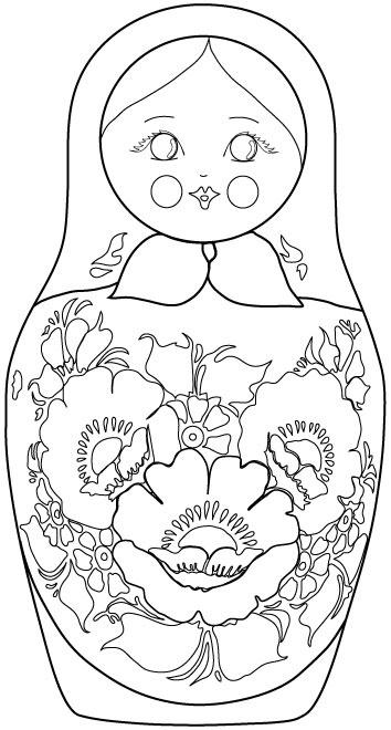 matroyshka dolls coloring pages - photo#16