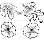 Превью depositphotos_18921605-Stylized-black-and-white-flowers (700x661, 217Kb)
