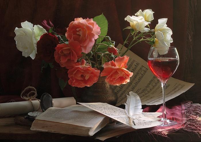 Натюрморты с розами!