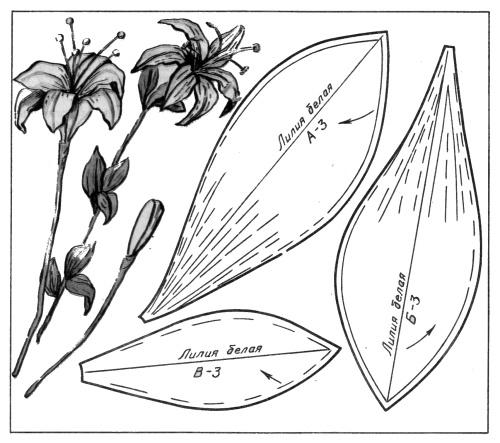как сделать лилию из ткани.