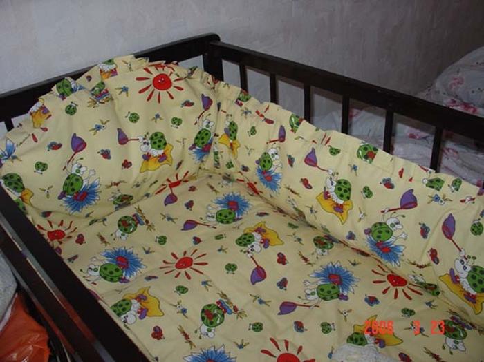 Как пошить бортики на детскую кроватку своими руками выкройка