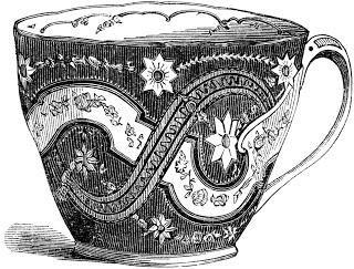 free digital stamp - vintage teacup image (320x243, 81Kb)
