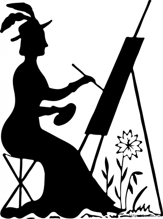 Silhouette-Stock-Image-Lady-Painting-GraphicsFairy-761x1024 (520x700, 103Kb)