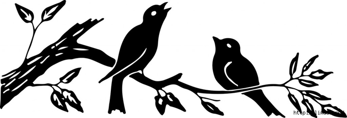 Silhouette-Image-Birds-on-Branch-GraphicsFairy1-1024x349 (700x238, 69Kb)
