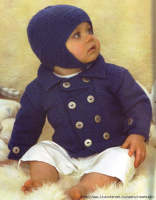 Вязание шапок для детей от 1 до 3 лет 257