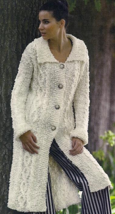 Вязание спицами воротник для пальто