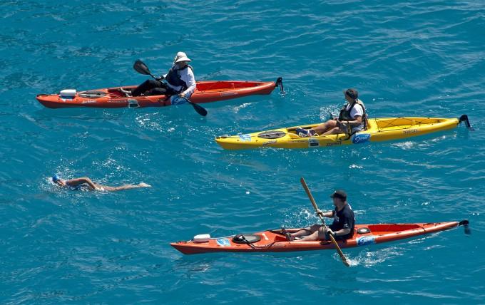 Дайана Найада переплыла флоридский пролив 1 (680x428, 345Kb)