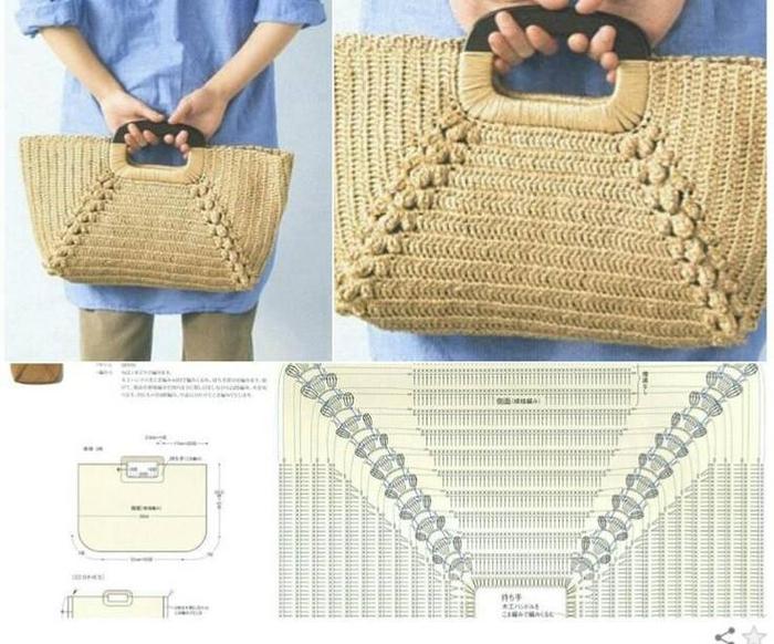 Вязание крючком модели сумочек 45