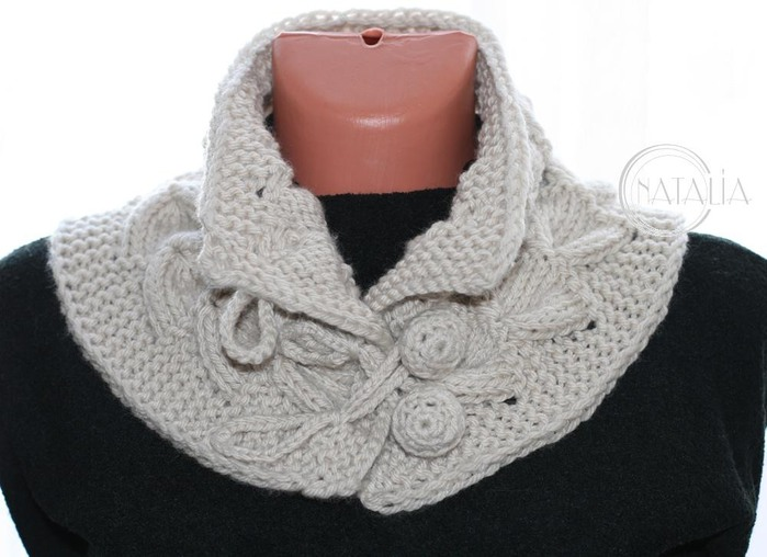 Спицы вязание шарф воротник спицами 688