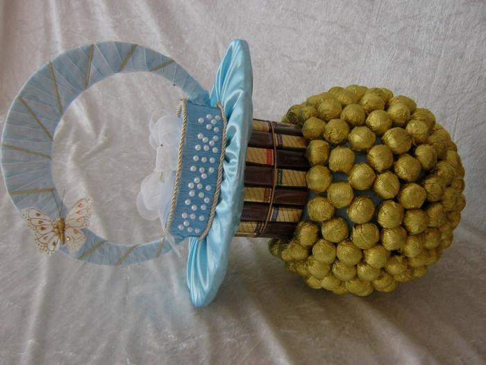 Соска-пустышка из конфет