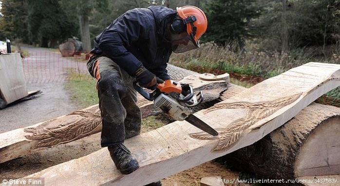 Как сделать статую из дерева своими руками в рост