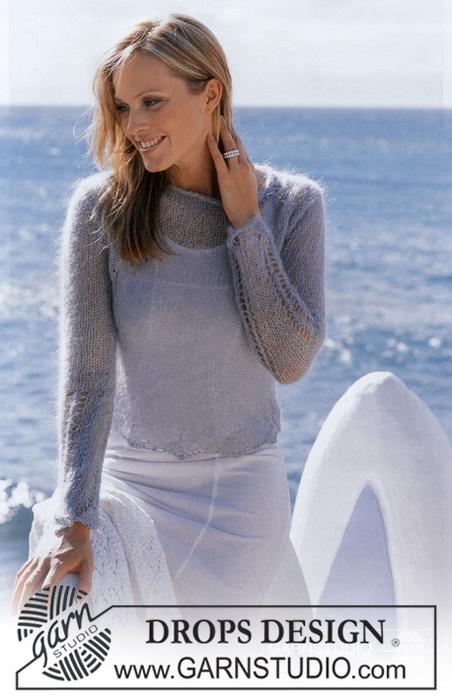 Схема свитер мохер спицы