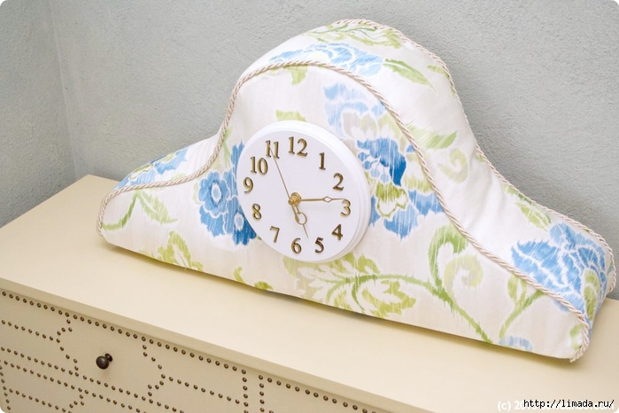 Waverly Fabric Clock Top Main Sew Can Do (700x466, 212Kb)