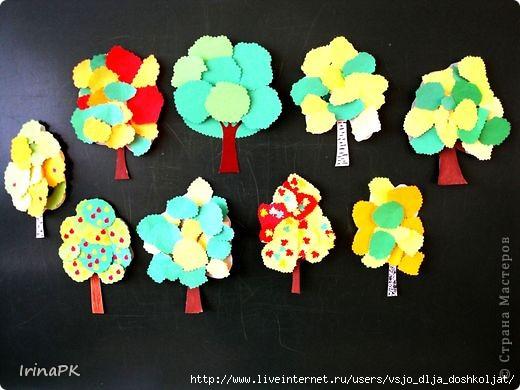 Поделки деревья из бумаги