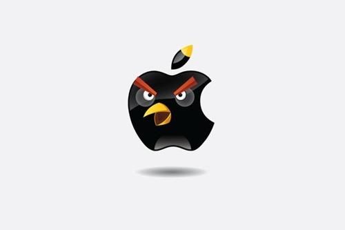 «Злые бренды». Известные логотипы в стиле Angry Birds