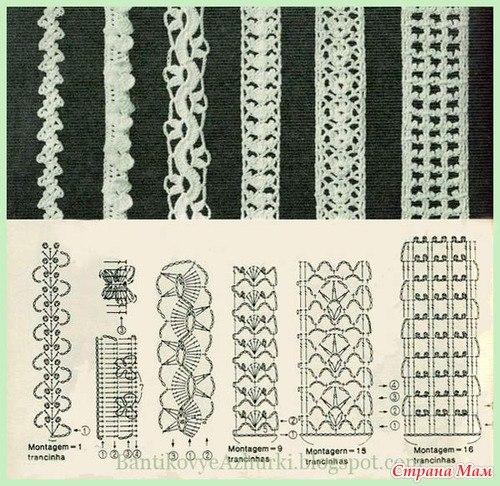 вязание крючком схемы и описание.