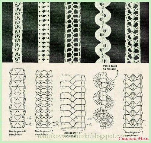 Вязания крючком схемы тесьмы 4