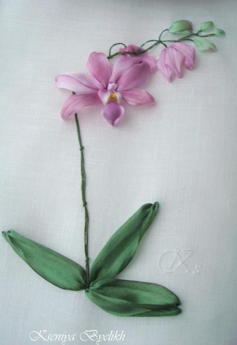 вышивке орхидеи из книги