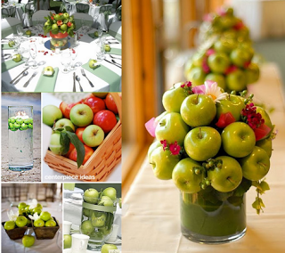divasandweddings.com aple centrepiece apple favour wedding mele tema themed matrimonio verde (320x284, 165Kb)